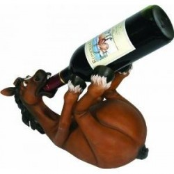 Rivers Edge Hand Painted Horse Wine Bottle Holder