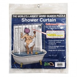 Word Search Puzzle Shower Curtain